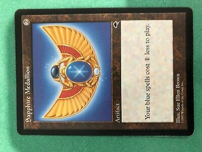 Sapphire Medallion Tempest NM-M Artifact Rare MAGIC THE GATHERING CARD ABUGames