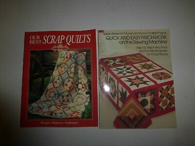 2 Lot OUR BEST SCRAP QUILTS & Quick and Easy Patchwork on Sewing Machine,PBs