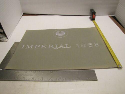ORIGINAL 1963 CHRYSLER IMPERIAL DEALERSHIP SALESMAN BROCHURE/PAMPHLET