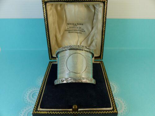 Sterling Silver Napkin Serviette Ring Antique 1912 43grams Boxed