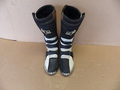 Fox Racing Tracker MX Motocross Boots Black Woman Girls Size 11 W11 Womens Motocross Boots
