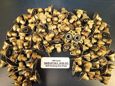#10-32 Self Sealing Fuel Resistant NAS1473A3 Nut Plates Lot of 100 each