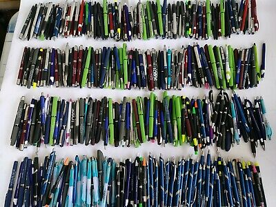 Bulk Lot Of 400 Misprint Mostly Plastic Retractable Ball Point Pens - Wholesale