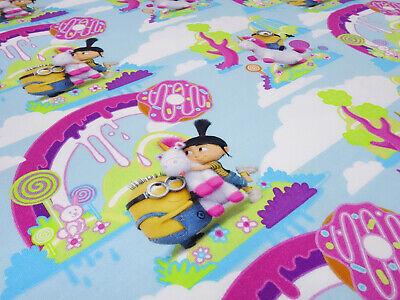 Stoff Baumwolle Jersey Minions Einhorn Agnes blau grün pink bunt Kinderstoff