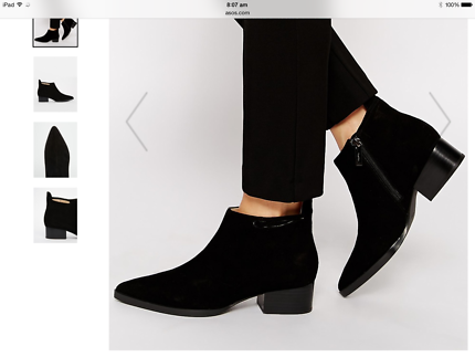 Calvin Klein Suede ankle boots