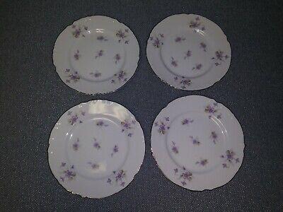 4 Mikasa China (4 Beautiful Mikasa Fine China Violetta 6 1/2