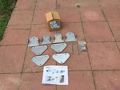 (Shoreline Marine Modular Aluminum Boat Dock Hardware Connector Kit)