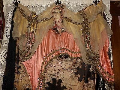 antique boudoir doll head shabby valance boho gypsy