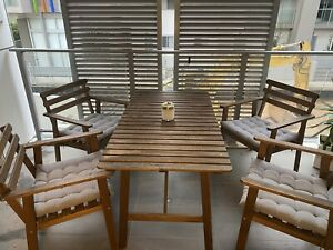 IKEA Falholmen Outdoor Table 4 chairs 4 Cushions