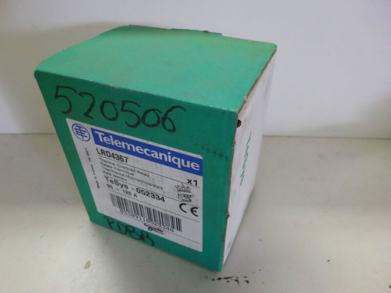 TELEMECHANIQUE - THERMAL OVERLOAD RELAY - LRD4367 - 95 to 120amp - BRAND NEW