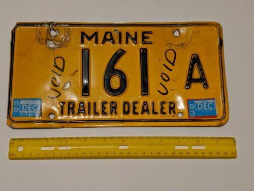 TRAILER DEALER MAINE LICENSE PLATE 161 A