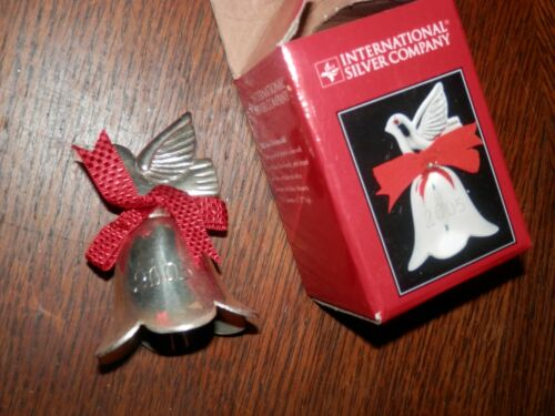 2005 International Silver Co. Silverplated Dove Bell Ornament, 3.5 in. High