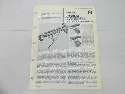 International Harvester 300 Diskall With Grain Box Attachment Sales Brochure