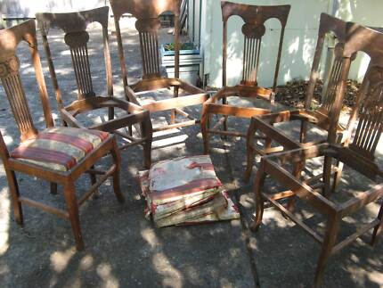 timber dining chairs for restoration c******1940's
