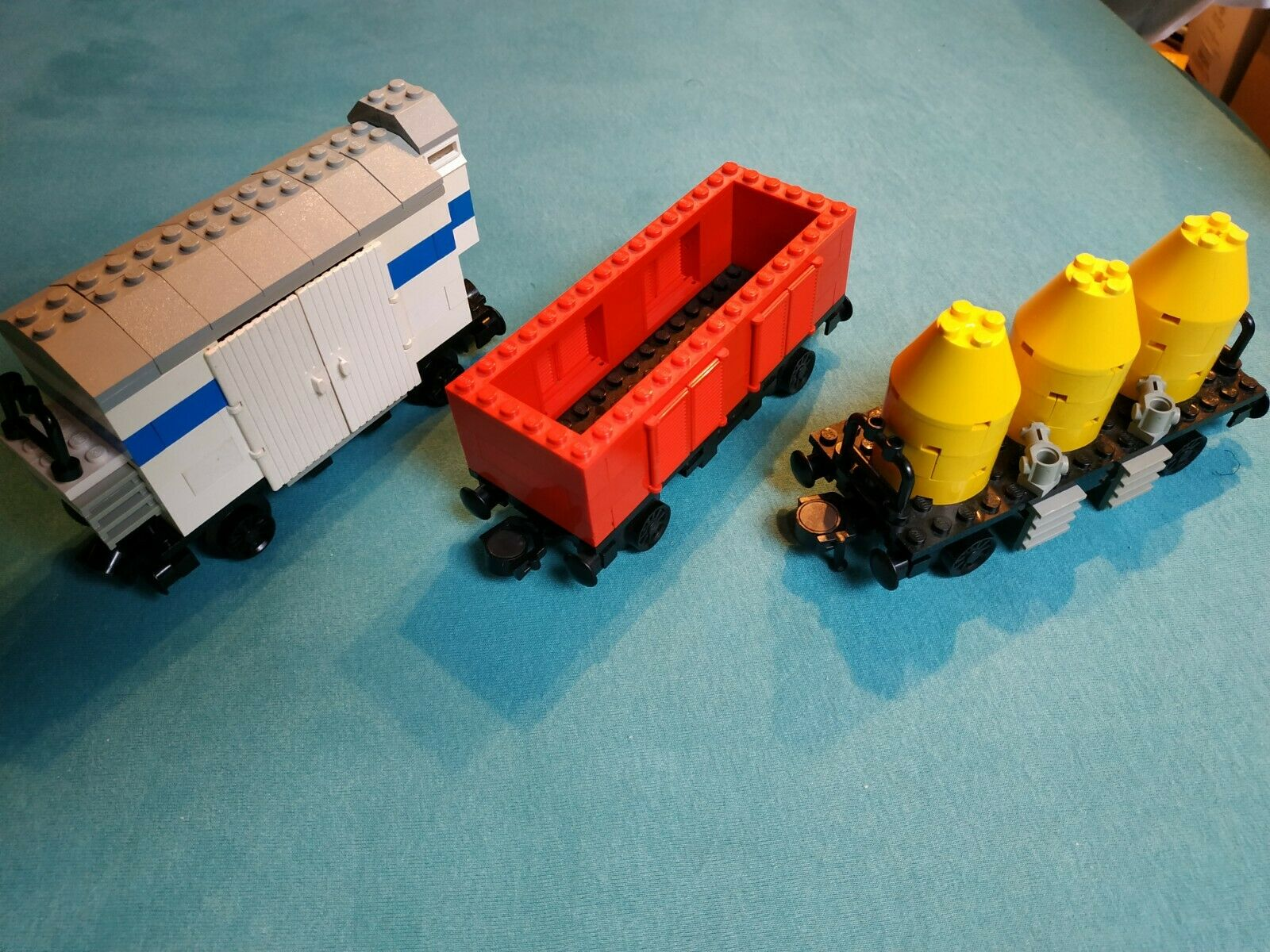 3 Lego Waggons aus Legoset 7730, gebraucht