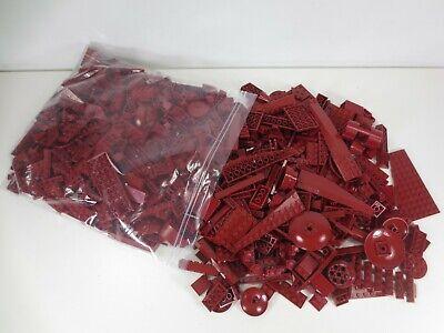 Lego Bricks Parts & Pieces Lot 1 kg Bag of Dark Red