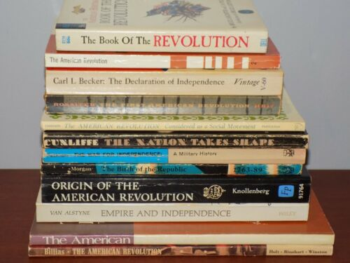 Lot of 12 history books on The American Revolution - paperback