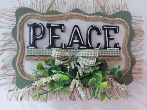 PEACE  WALL HANGING SIGN