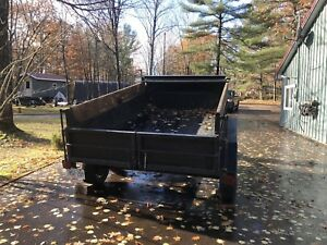 Dump trailer with removable remote