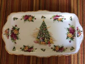 Royal Albert Old Country Roses Christmas Serving Tray
