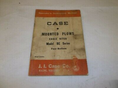 Case Mounted Plows Eagle Hitch Model Be Series Operators Manual