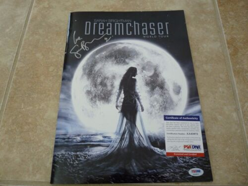 Sarah Brightman Signed Autographed Dreamchaser World Tour Program Psa Certified