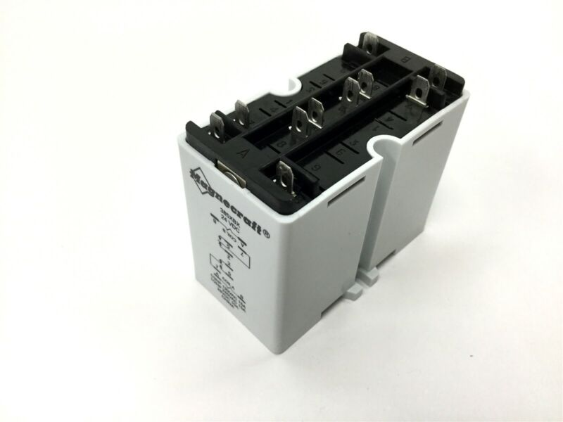 Magnecraft 385XBX-24D Latching Relay, DPDT, Coil: 24VDC, Contacts: 240VAC 28VDC