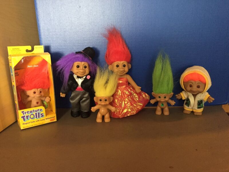 Ace, Russ, And Galoob Troll Doll Lot