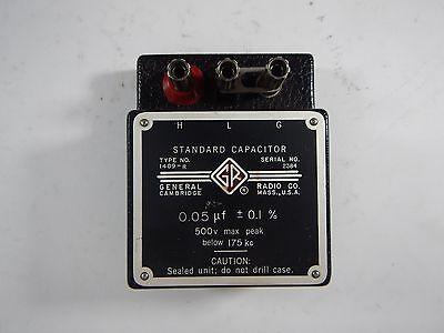 General Radio Co Standard Capacitor 1409-r 0.05 F
