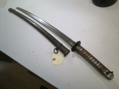 WW2 JAPANESE NCO OFFICERS SWORD MATCHING NUMBERS ON BLADE & SCABBARD MINTY #W42