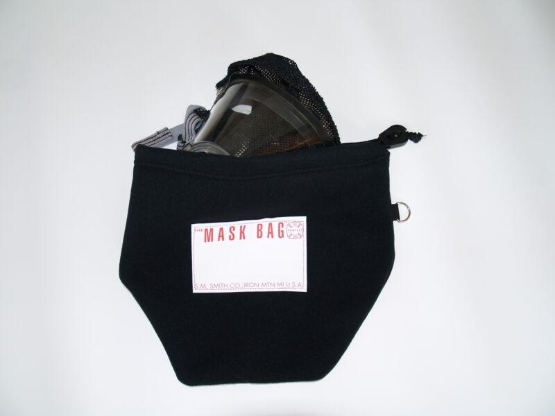 S.M. Smith Co. SCBA Mask Bag, MB3-100, Heavy Fleece, BLACK, W/drawcord.