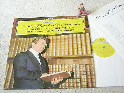 PETER SCHREIER Auf Flügeln des Gesanges MENDELSSOHN-Lieder GER LP+INSERT DGG