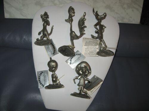Lot of 5 Warner Bros Howard Eldon Pewter LOONEY TUNES Figures WITH TAGGS