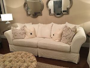 White 4 seater sofa (2 available) Woolwich Hunters Hill Area Preview