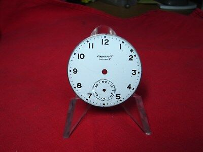 ANTIQUE POCKET WATCH DIAL INGERSOLL RELIANCE 42mm PARTS OR REPAIR! b8