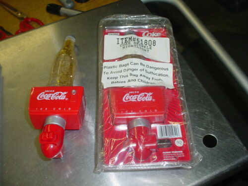 Lot of Two Coca-cola Sparkle Night Light Vintage Collector