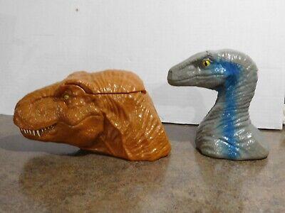 Jurassic World Fallen Kingdom T-Rex Promo Popcorn Bucket & Velociraptor Cup/Mug