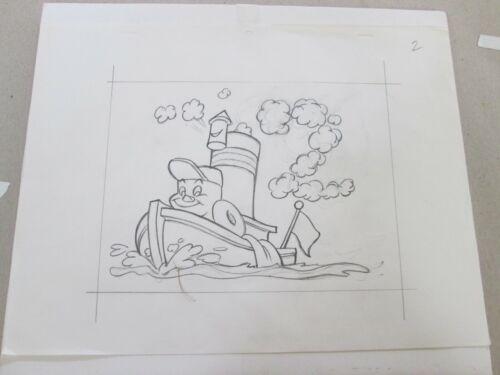 Preston Blair Little Toot Disney cel Drawing