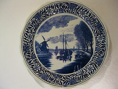 Polycrome Plate Boch Freres Antique Canton B F