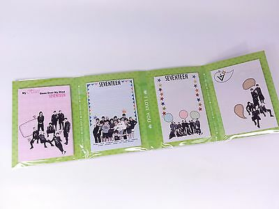 Seventeen Portable Photo Memo Pad KPOP K Pop Star 17 Project Note Bookmark Cute