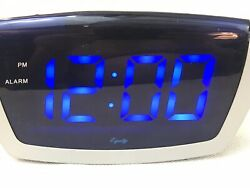 Equity Blue Large LED Alarm Clock 75904 Preowned Working Fast Ship