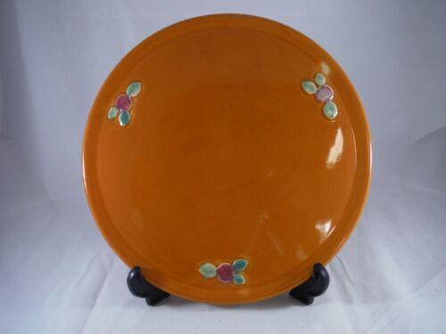 Coors Pottery Rosebud Orange Cake Plate