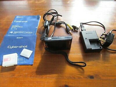 Sony Cyber Shot  DSC-T100 8.1MP Black Camera With Sony Battery Charger