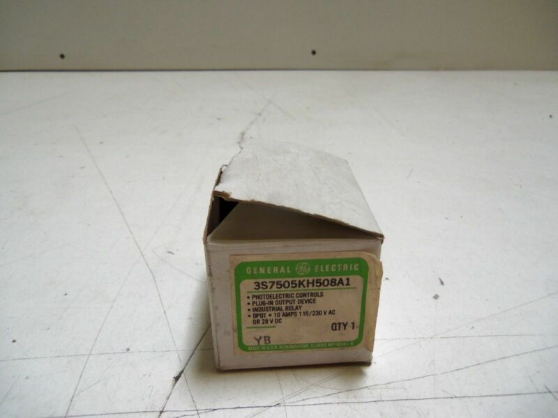 GENERAL ELECTRIC 3S7505KH508A1 RELAY OUTPUT *NEW IN BOX*