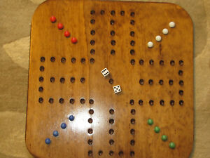 AGGRAVATION GAME - FOUR PLAYER SQUARE WOODEN GAME BOARD