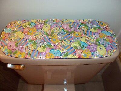 New Multi-Color Easter Egg Pattern--Sm Table Runner-Toilet Tank Topper--Dresser  (Toilet Toppers)