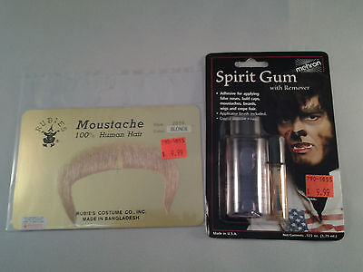 Blonde Zapata Moustache w/ ADHESIVE Combo 70's 80's 100% Human Hair Style 2016 - 70s Mens Hairstyles