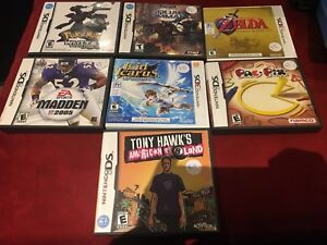 7 nintendo ds games.