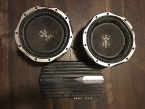 2 Sony Xplod Subs with Amp & Stereo Deck