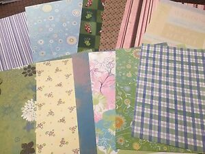 Huge lot of scrapbooking patterned paper